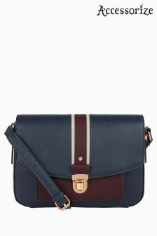 Accessorize Blue Verity Colourblock Across Body Bag
