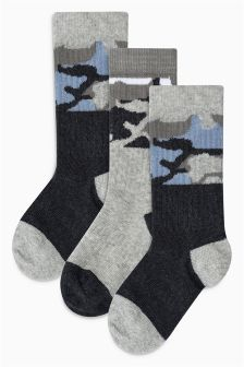 Camo Sports Socks Three Pack (Older Boys)