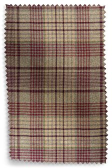 Elsworth Woven Check Eyelet Curtain Fabric Sample