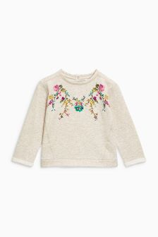 Flower Crew Neck Top (3mths-6yrs)