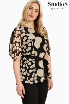 Studio 8 Black/Blush Elianna Blouse