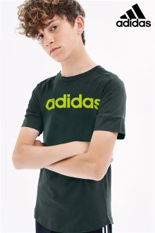 adidas Green Linear Logo T-Shirt