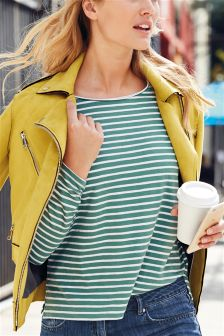 Basic Long Sleeve Stripe T-Shirt