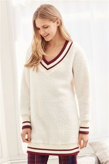 Longline Sheepy Cricket Jumper