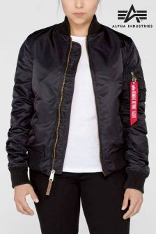 Alpha Black Ma1 VF59 Bomber Jacket