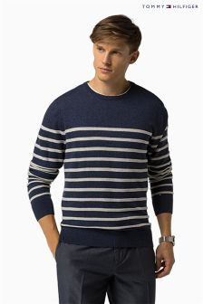 Tommy Hilfiger Navy/Cream Naz Stripe Jumper