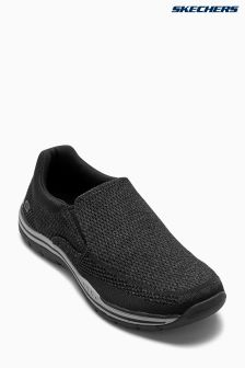 Skechers® Black Expected Gomel Slip-On Shoe