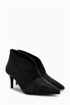 Shimmer Point Shoe Boots