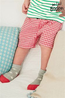 Boden Red Gingham Baby Summer Shorts