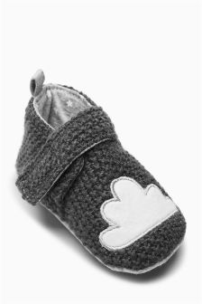 Cosy Knit Character Pram Shoes (Younger Boys)