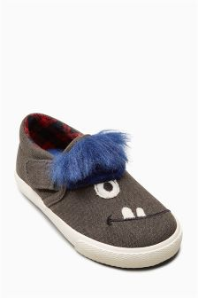 Faux Fur Slip-Ons (Younger Boys)