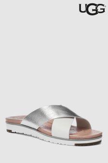 UGG® Silver/White Kari Slider