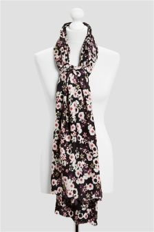 Floral Textured Scarf