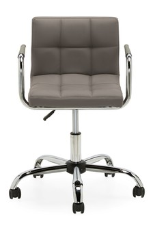 French Grey Faux Leather Office Chair