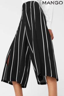 Mango Black Stripe Crop Trouser