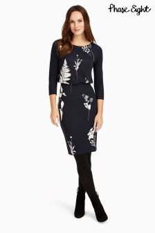 Phase Eight Navy/Ivory Conway Print Dress