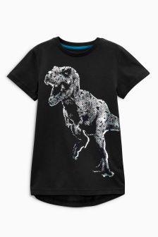 Foil Print Dinosaur T-Shirt (3-16yrs)