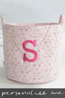 Embroidered Initial Quilted Storage Bag By My 1st Years