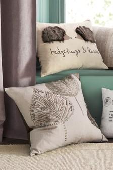 Leaf Embroidery Cushion