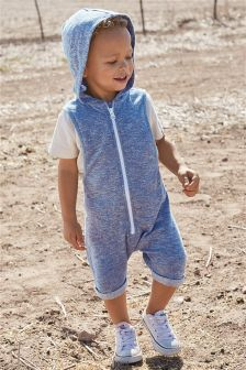 Double Cloth Hooded All-In-One (3mths-6yrs)