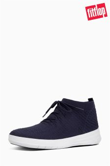 FitFlop™ Blue Uberknit™ Slip-On High Top Sneaker