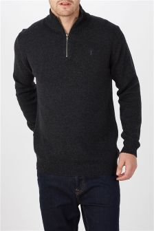 Lambswool Zip Neck