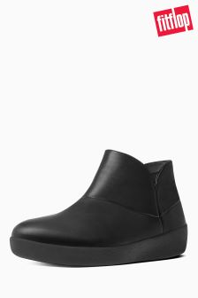 FitFlop™ Black Supermod Leather Ankle Boot