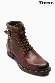 Dune Brown Churchill Toecap Buckle Boot