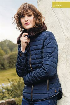 Joules Navy Padded Gosfield Coat
