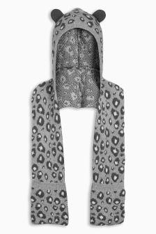 Leopard Hat Scarf (Older Girls)