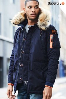 Superdry Navy Parka Jacket