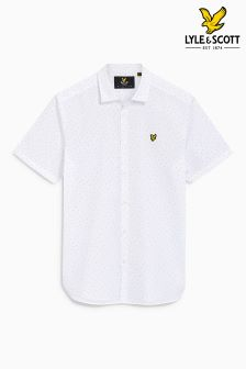 Lyle & Scott Dot Print Short Sleeve Shirt