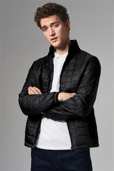 Lightweight Square Quilted Jacket