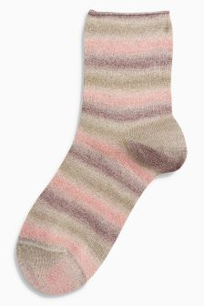 Sparkle Stripe Ankle Socks