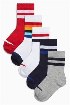Bright Sports Socks Five Pack (Younger Boys)