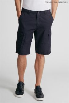 French Connection Blue Cargo Short