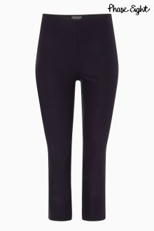 Phase Eight Navy Halle Crop Trouser