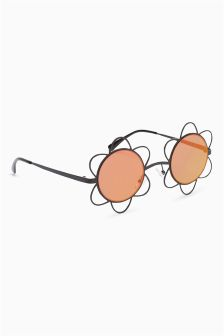 Metal Flower Sunglasses
