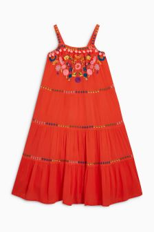 Bright Embroidered Maxi Dress (3-16yrs)