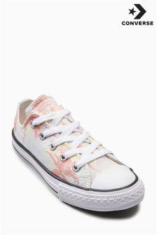 Converse Pink/Cream Palm Print Chuck Ox