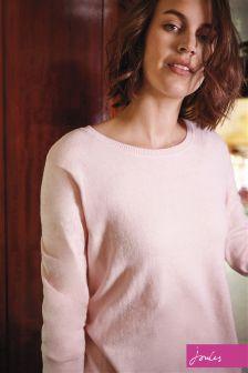 Joules Soft Pink Curved Hem Tara Jumper