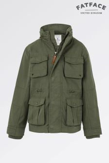 Fat Face Khaki Wareham 4 Pocket Jacket