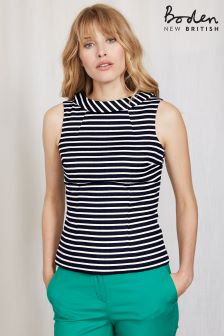 Boden Navy Martha Top
