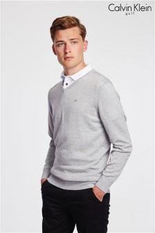 Calvin Klein Golf Silver Easycare Merino Sweater