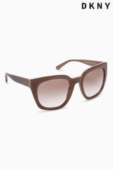 DKNY Taupe Acetate Classic Sunglasses