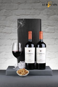 2 Bottles Chilean Red Reserva Wine Gift Box