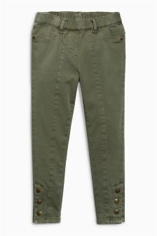 Military Button Hem Jeggings (3-16yrs)