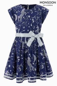 Monsoon Navy Gemini Dress