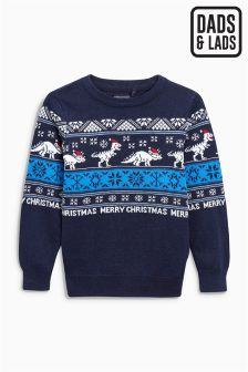 Boys Christmas Dinosaur Jumper (3-16yrs)