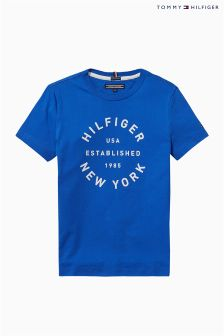 Tommy Hilfiger Blue Ame Big Logo T-Shirt